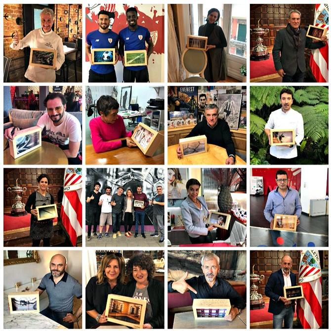 'cubos solidarios', personalizados y rubricados por personalidades vascas de todos los ámbitos